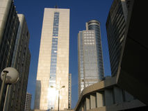 Corporate buildings. Street with corporate buildings Stock Image
