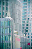 Corporate buildings. Cityscape with modern corporate buildings Royalty Free Stock Photo