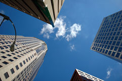 Corporate Buildings. With perspective on a sunny day Royalty Free Stock Photo