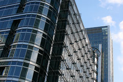 Corporate buildings. Corner of impressive modern corporate office building Royalty Free Stock Photography