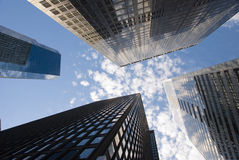 Corporate Buildings in New York City Stock Photography