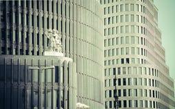 corporate buildings berlin stock image