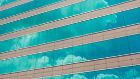 Corporate Buildings, Blue Sky and Clouds