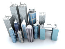 Corporate buildings from a high angle Stock Image