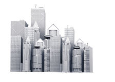 Corporate buildings illustration Stock Photo