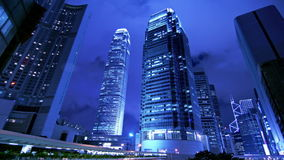 Corporate Buildings at Night. Royalty Free Stock Photography