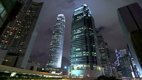 Corporate Buildings at Night. Royalty Free Stock Image