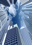 Corporate buildings in perspec Stock Photography