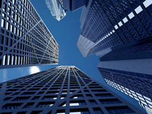 Corporate buildings in perspective Royalty Free Stock Photo