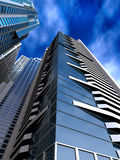 Corporate buildings in perspective Royalty Free Stock Image
