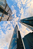 Corporate buildings in perspective stock images
