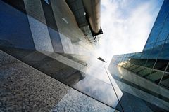 Corporate buildings in perspective Stock Image