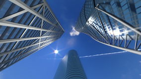 Corporate buildings and time lapse clouds, stock footage Stock Photos