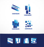 Corporate business abstract square logo set Stock Photo