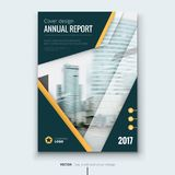 Corporate business annual report cover, brochure or flyer design. Leaflet presentation. Catalog with Abstract geometric background. Modern publication poster Royalty Free Stock Photo