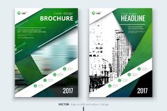 Corporate business annual report cover, brochure or flyer design. Leaflet presentation. Catalog with Abstract geometric background. Modern publication poster Stock Images