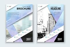 Corporate business annual report cover, brochure or flyer design. Leaflet presentation. Catalog with Abstract geometric background. Modern publication poster Stock Image