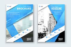 Corporate business annual report cover, brochure or flyer design. Leaflet presentation. Catalog with Abstract geometric background. Modern publication poster Royalty Free Stock Images