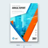 Corporate business annual report cover, brochure or flyer design. Leaflet presentation. Catalog with Abstract geometric background. Modern publication poster Stock Photos