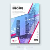 Corporate business annual report cover, brochure or flyer design. Leaflet presentation. Catalog with Abstract geometric background. Modern publication poster Royalty Free Stock Photos