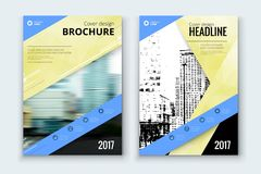 Corporate business annual report cover, brochure or flyer design. Leaflet presentation. Catalog with Abstract geometric background. Modern publication poster Royalty Free Stock Image