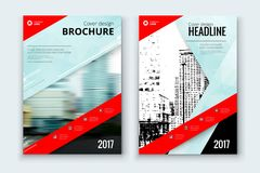 Corporate business annual report cover, brochure or flyer design. Leaflet presentation. Catalog with Abstract geometric background. Modern publication poster Royalty Free Stock Photography