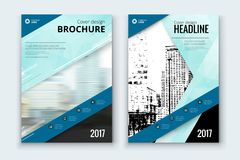 Corporate business annual report cover, brochure or flyer design. Leaflet presentation. Catalog with Abstract geometric background. Modern publication poster Stock Photo