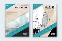 Corporate business annual report cover, brochure or flyer design. Leaflet presentation. Catalog with Abstract geometric background. Modern publication poster Stock Photography