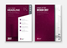 Corporate business annual report cover, brochure or flyer design. Stock Image