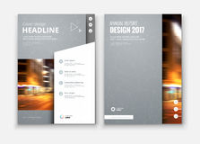 Corporate business annual report cover, brochure or flyer design. Royalty Free Stock Images