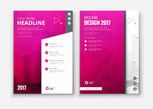 Corporate business annual report cover, brochure or flyer design. Stock Photography