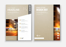 Corporate business annual report cover, brochure or flyer design. Royalty Free Stock Image