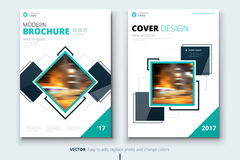 Corporate business annual report cover, brochure or flyer design. Leaflet presentation. Catalog with Abstract geometric Stock Photos