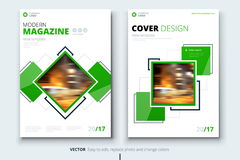 Corporate business annual report cover, brochure or flyer design. Leaflet presentation. Catalog with Abstract geometric. Background. Modern publication poster Royalty Free Stock Image