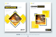 Corporate business annual report cover, brochure or flyer design. Leaflet presentation. Catalog with Abstract geometric Stock Photography