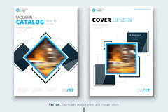 Corporate business annual report cover, brochure or flyer design. Leaflet presentation. Catalog with Abstract geometric. Background. Modern publication poster Stock Photo
