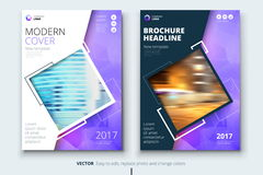 Corporate business annual report cover, brochure or flyer design. Leaflet presentation. Catalog with Abstract geometric. Background. Modern publication poster Royalty Free Stock Photos