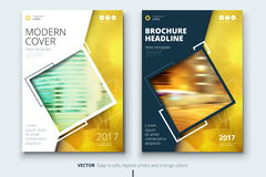 Corporate business annual report cover, brochure or flyer design. Leaflet presentation. Catalog with Abstract geometric Stock Photo