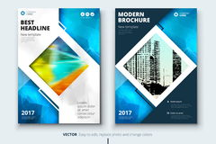 Corporate business annual report cover, brochure or flyer design. Leaflet presentation. Catalog with Abstract geometric Stock Images