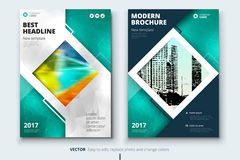 Corporate business annual report cover, brochure or flyer design. Leaflet presentation. Catalog with Abstract geometric. Background. Modern publication poster stock illustration