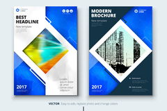 Corporate business annual report cover, brochure or flyer design. Leaflet presentation. Catalog with Abstract geometric Royalty Free Stock Photography