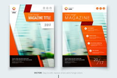Corporate business annual report cover, brochure or flyer design. Leaflet presentation. Catalog with Abstract geometric Stock Image