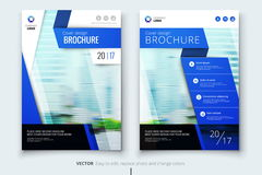 Corporate business annual report cover, brochure or flyer design. Leaflet presentation. Catalog with Abstract geometric Royalty Free Stock Images