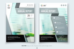 Corporate business annual report cover, brochure or flyer design. Leaflet presentation. Catalog with Abstract geometric Royalty Free Stock Photo