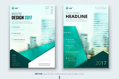 Corporate business annual report cover, brochure or flyer design. Leaflet presentation. Catalog with Abstract geometric. Background. Modern publication poster royalty free illustration