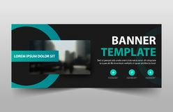 Corporate business banner template, horizontal advertising business banner layout template sign set , clean abstract cover header stock illustration