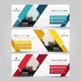 Corporate business banner template, horizontal advertising. Business banner layout template flat design set , clean abstract cover header background for website vector illustration