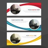 Corporate business banner template, horizontal advertising business banner layout template flat design set , clean abstract cover. Header background for website vector illustration