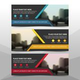 Corporate business banner template, horizontal advertising business banner layout template flat design set , clean abstract cover. Header background for website Royalty Free Stock Photo