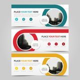 Corporate business banner template, horizontal advertising business banner layout template flat design set ,. Clean abstract cover header background for website Stock Images